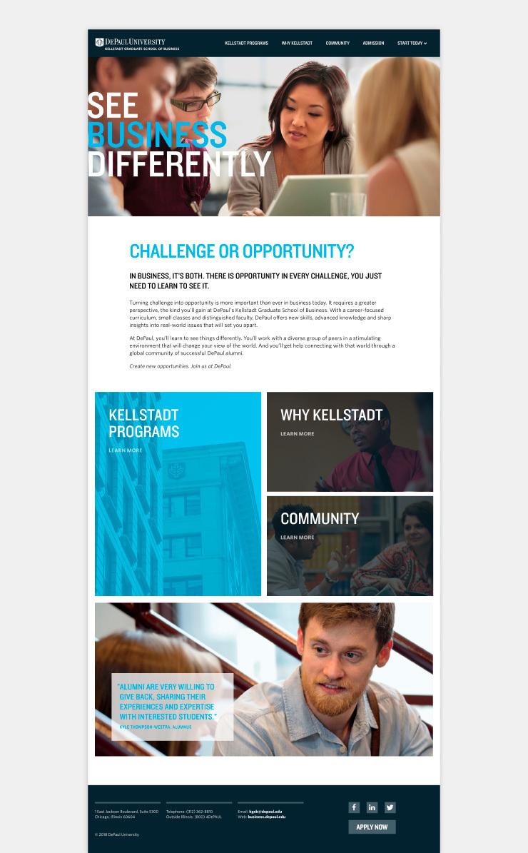 Multiple Inc DePaul University Kellstadt Web Viewbook 1
