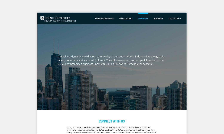 Multiple Inc DePaul University Kellstadt Web Viewbook 10