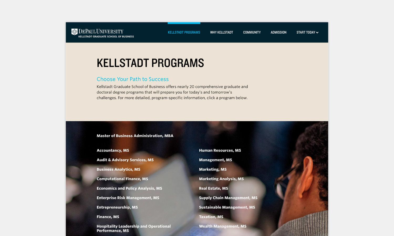 Multiple Inc DePaul University Kellstadt Web Viewbook 2