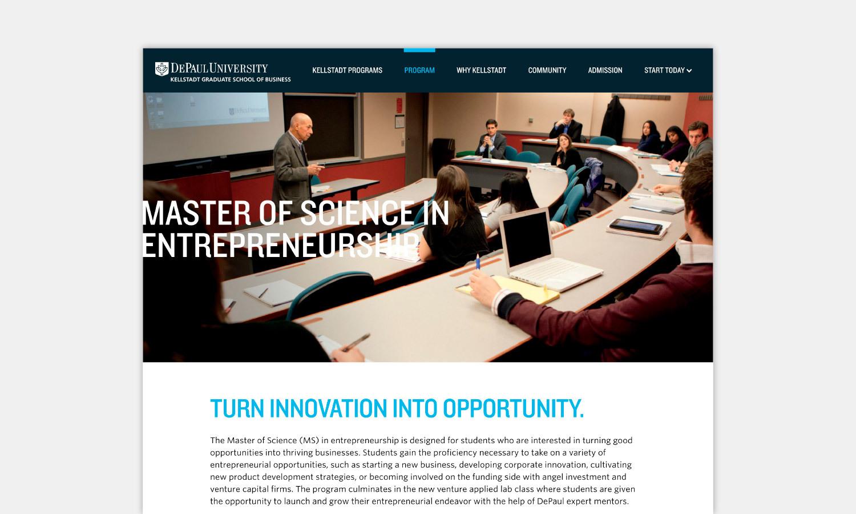 Multiple Inc DePaul University Kellstadt Web Viewbook 3