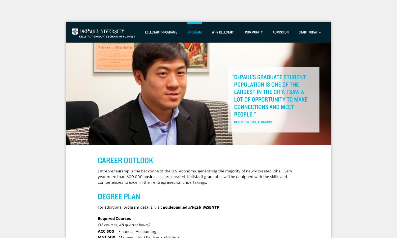 Multiple Inc DePaul University Kellstadt Web Viewbook 4