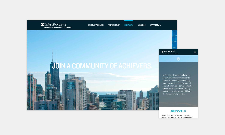 Multiple Inc DePaul University Kellstadt Web Viewbook 5