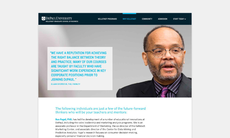 Multiple Inc DePaul University Kellstadt Web Viewbook 7