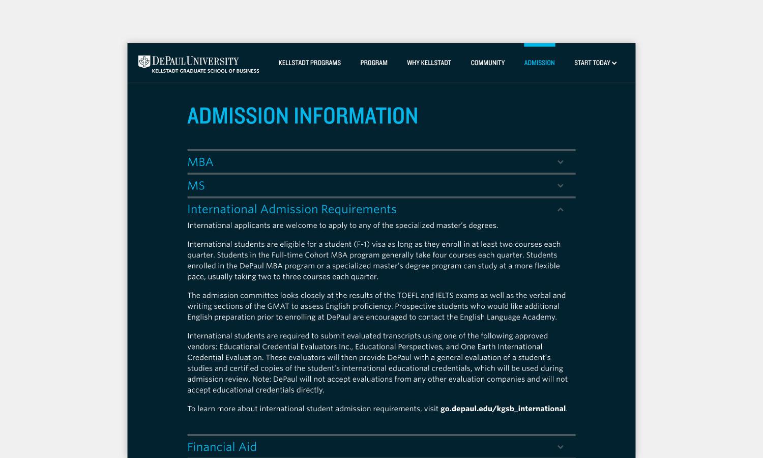 Multiple Inc DePaul University Kellstadt Web Viewbook 9